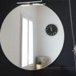miroir-rond-carreau noir marbre